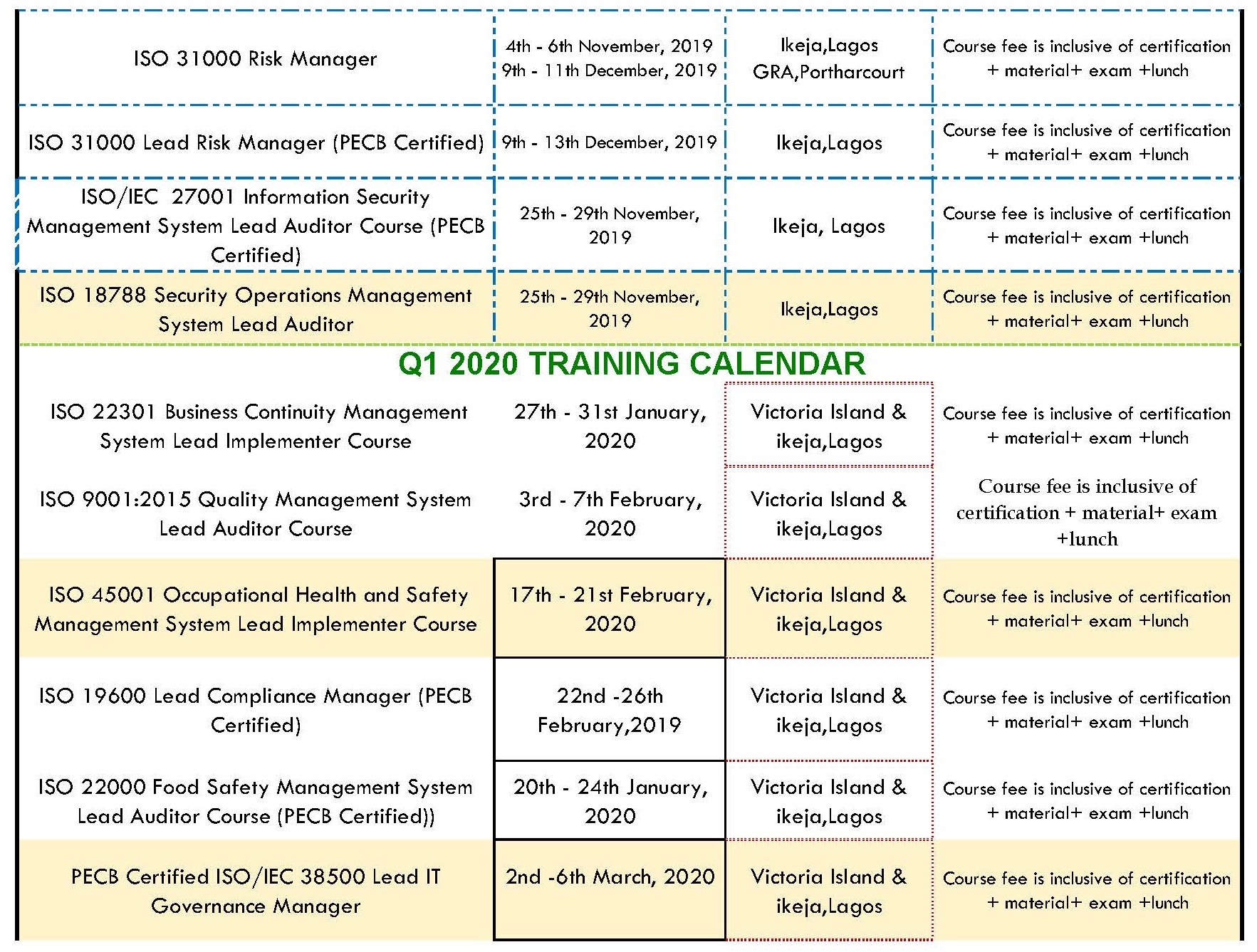 Copy of training schedule for pecb flyer Page 2